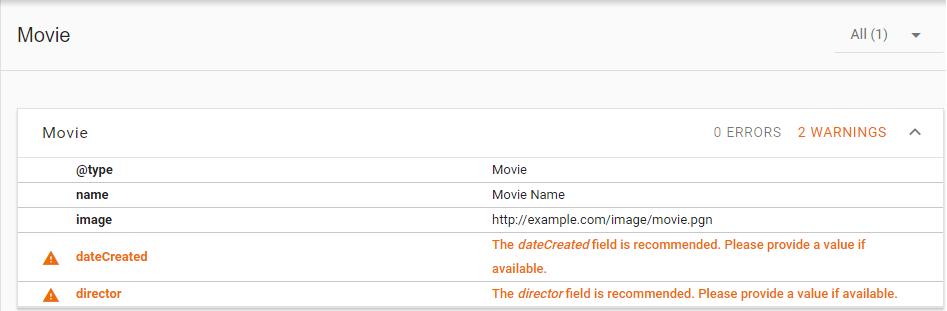 Minimal JSON-LD schema.org/Movie markup